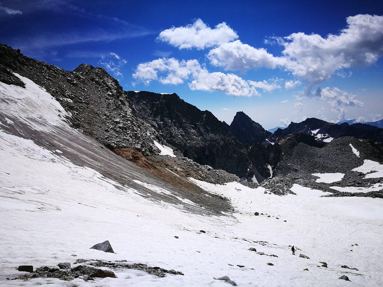 03 - scendendo sul ghiacciaio di Gay