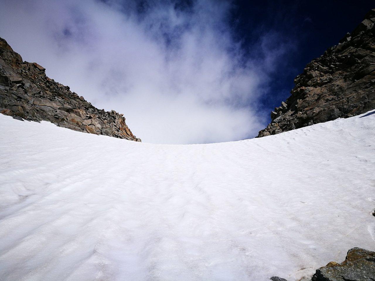 08 - 50 metri finali per il colle di Valnontey, inizio a 38°, poi a 40°