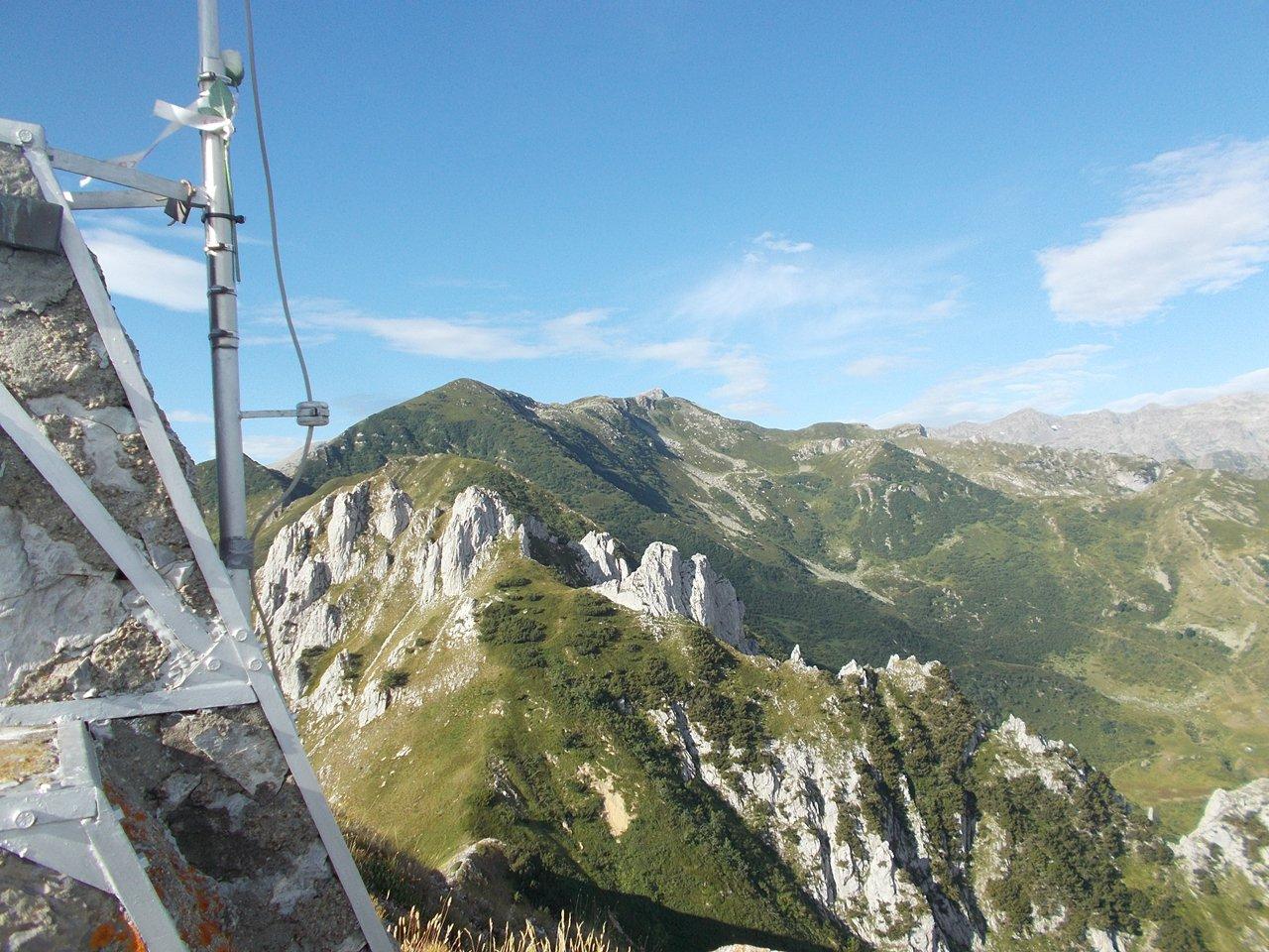 la cresta verso il Bec Matlas e il Monte Creusa