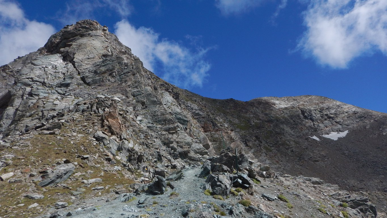 Glacier in fondo a dx visto dal colle Fussy