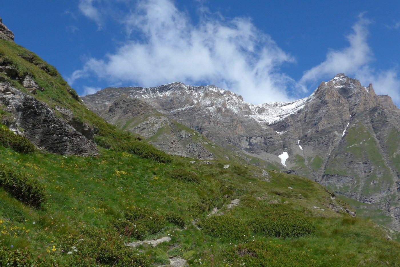 Punta delle Cavalle e Punta del Fort con la neve