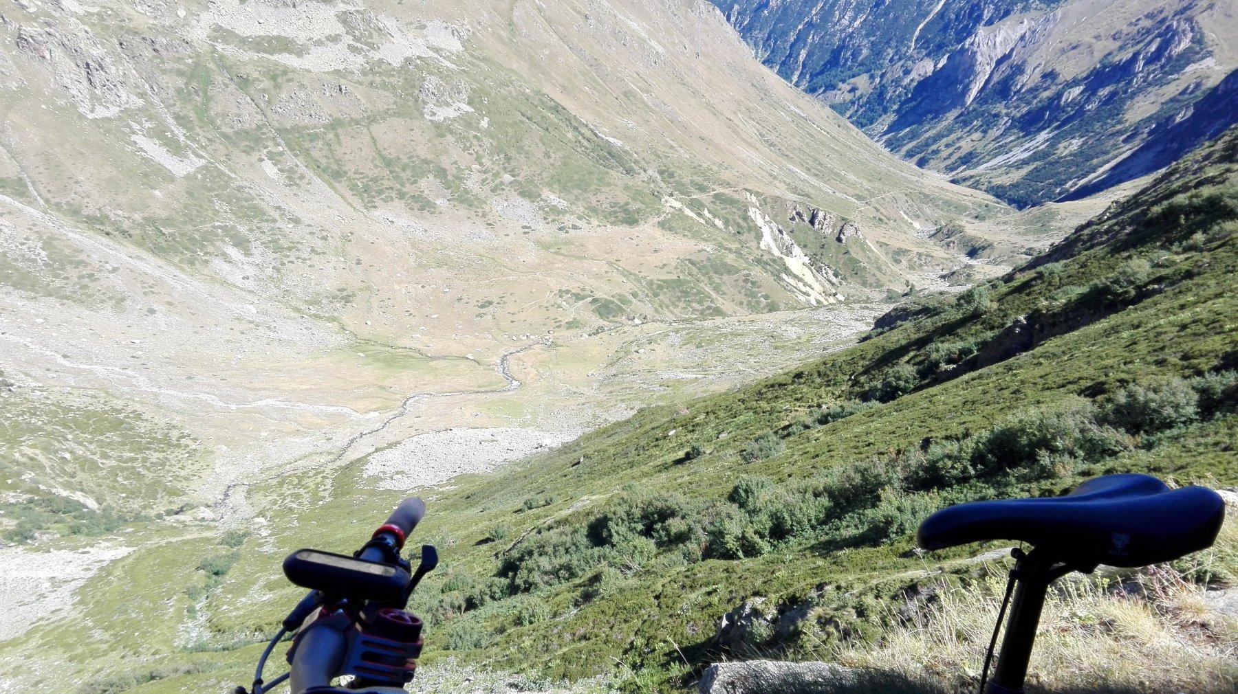 vista dall'alto del Vallone di risalita