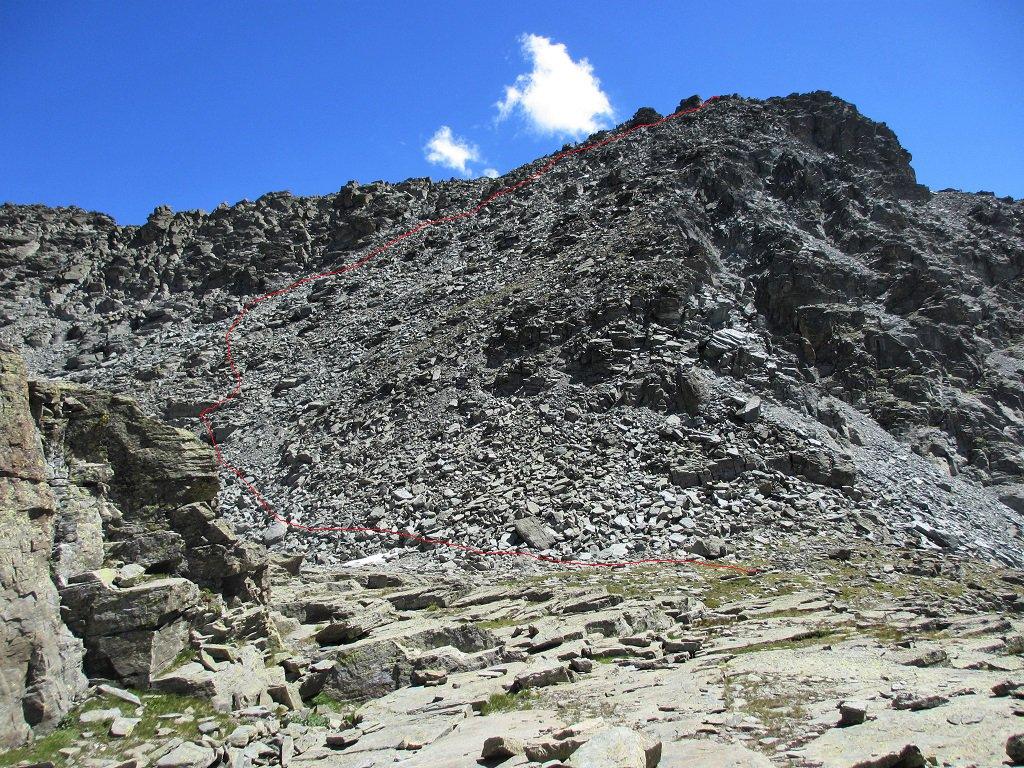Ale Lunghe (Punta Orientale) da Castello, per versante S e cresta E 2017-07-28