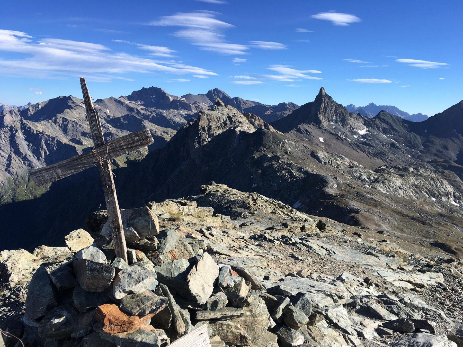 Dal Pelvo vista su Rocca Bianca e Roc de la Niera