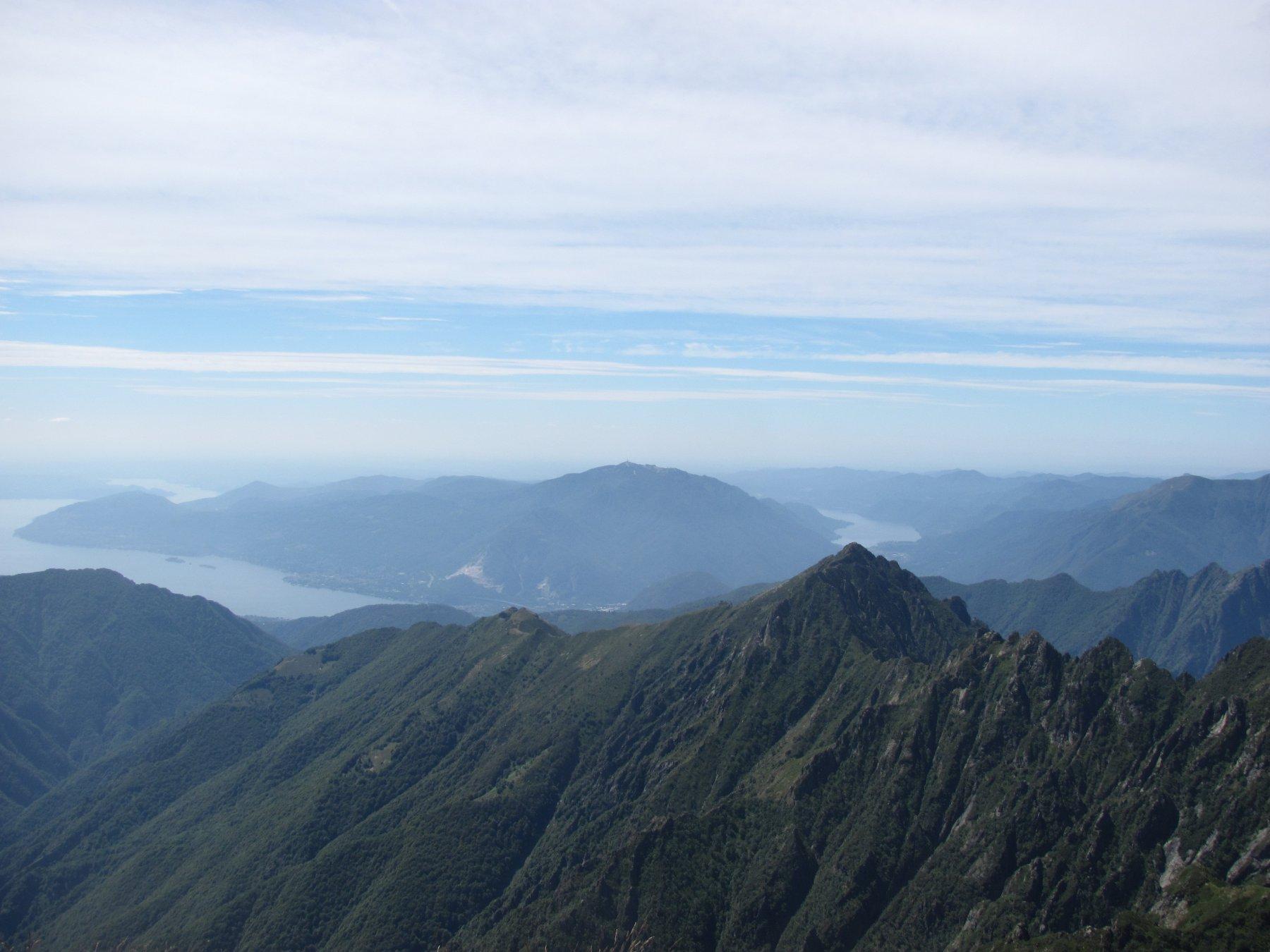 dalla Cima: monti della val Grande, Lago Maggiore e lago d'Orta