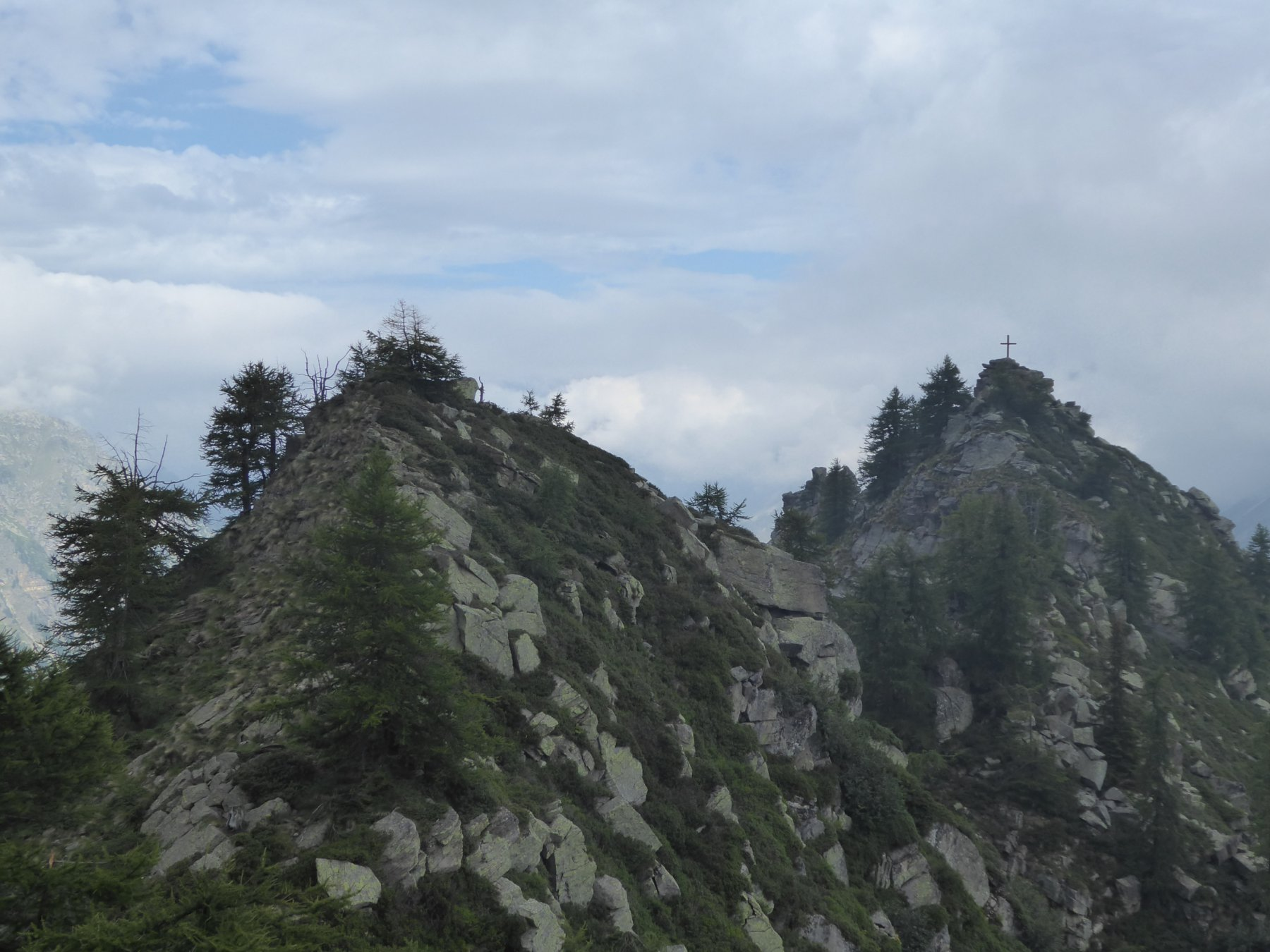 Zoom sul Pruset, dall'altarino della cresta S-E