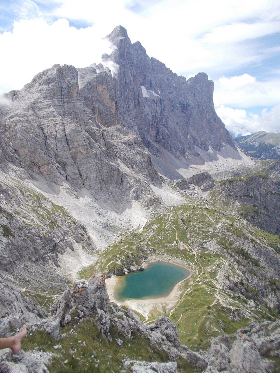 dalla cima :M.Civetta e lago Coldai