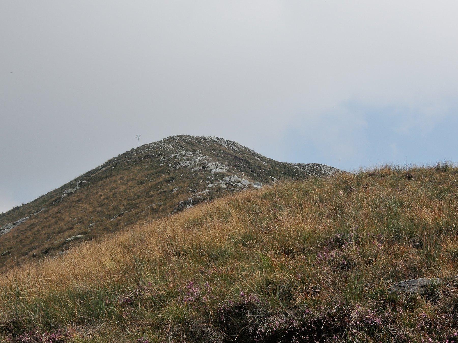 Ultimo tratto della cresta Sud verso la cima del Mater.