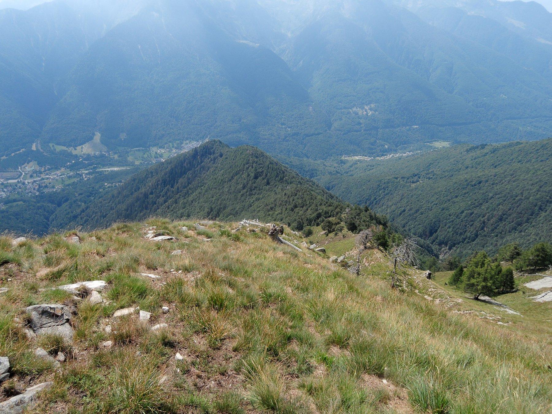 Cresta Sud del Margineta, Costa Regada, percorsa in discesa