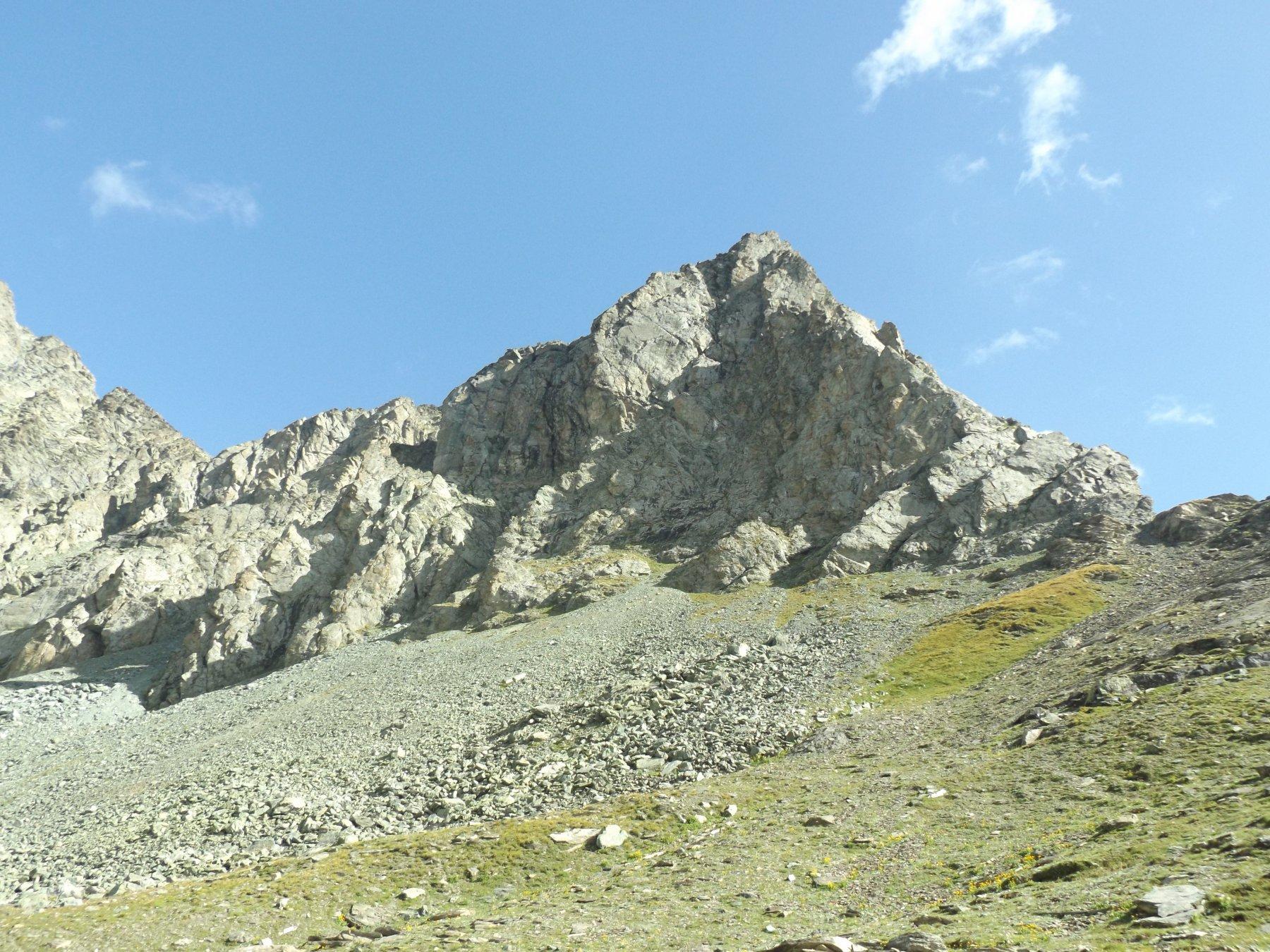 Monte Meidassa dal piano sotto la casermetta