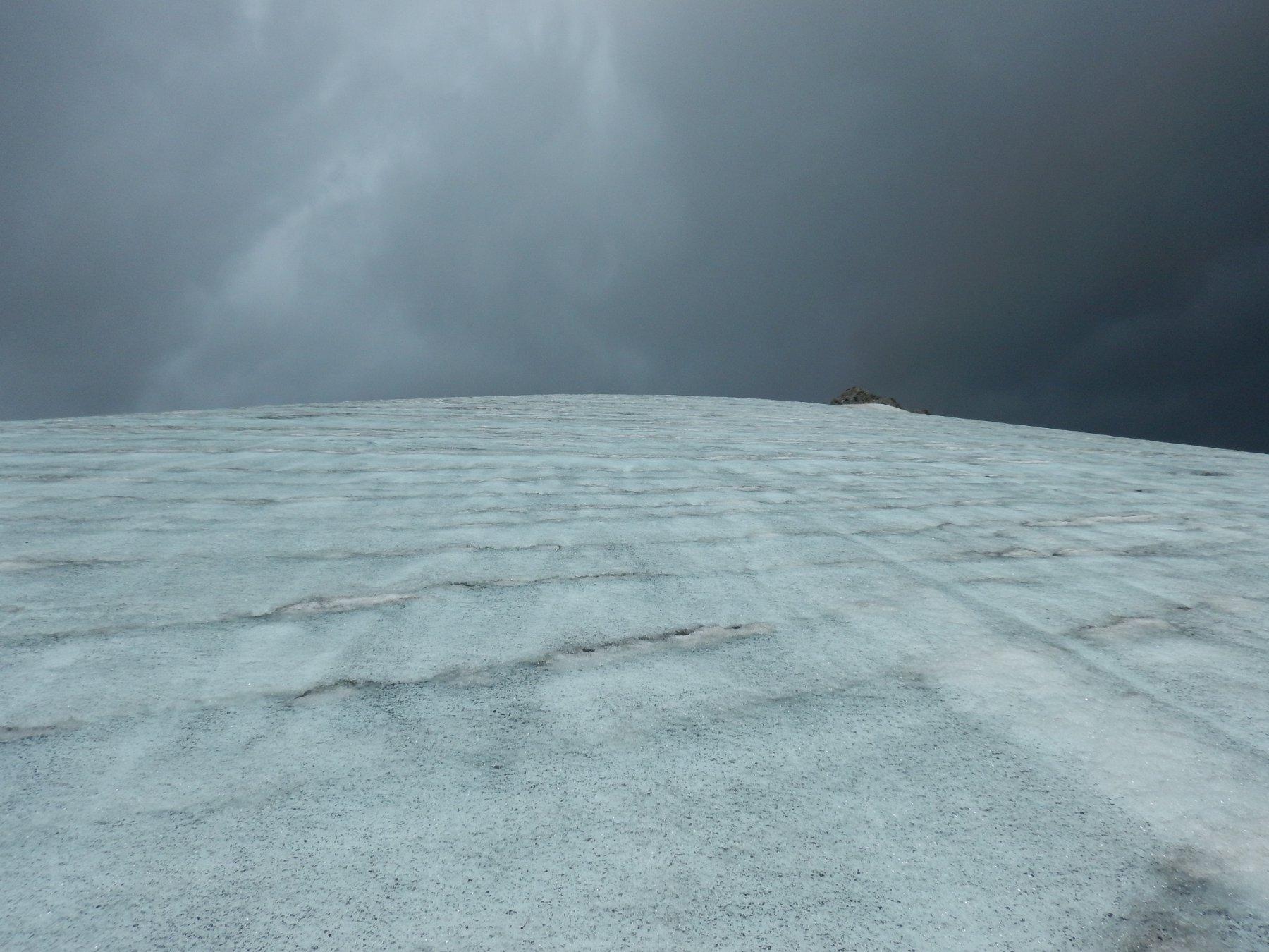scendendo sul ghiaccio