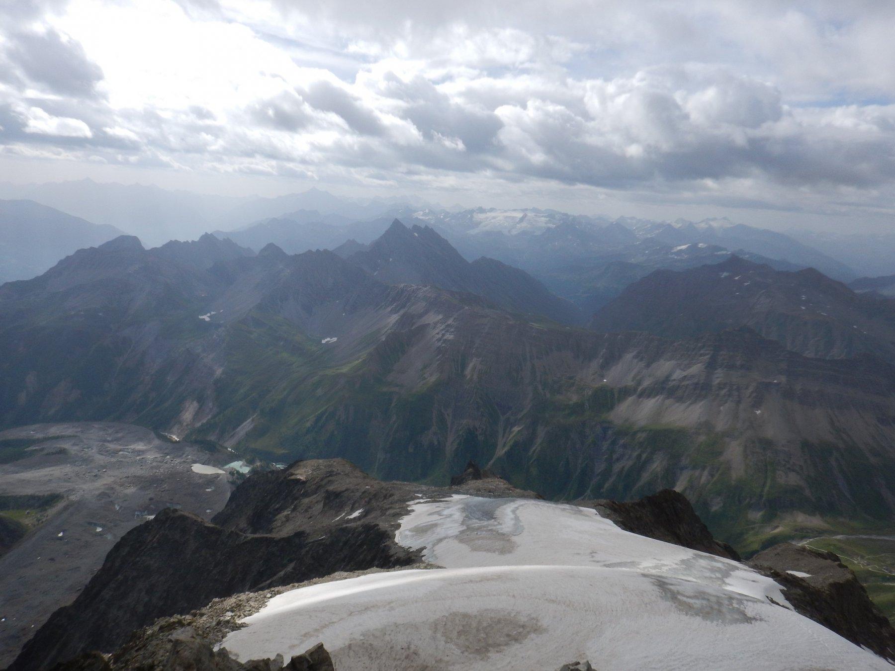 dalla cima il ghiacciaio percorso