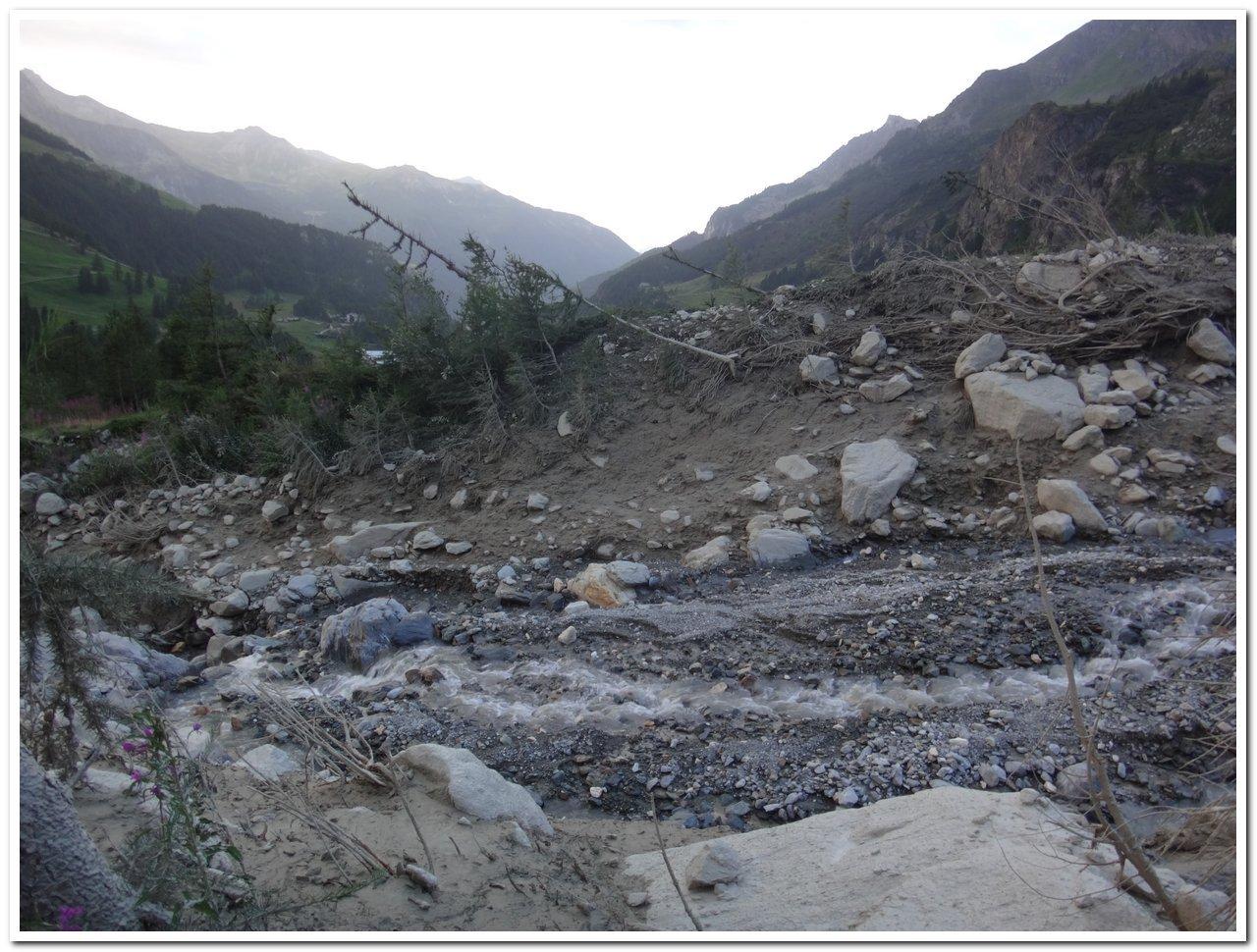 Il vallone sconvolto dall'alluvione