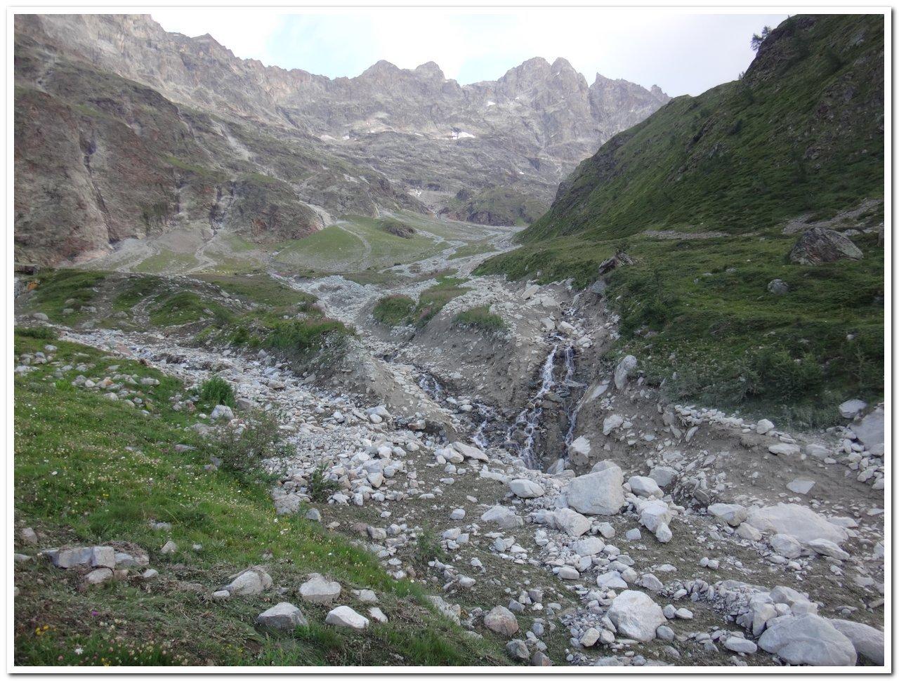 Vista del vallone dalla palina a 2185 metri