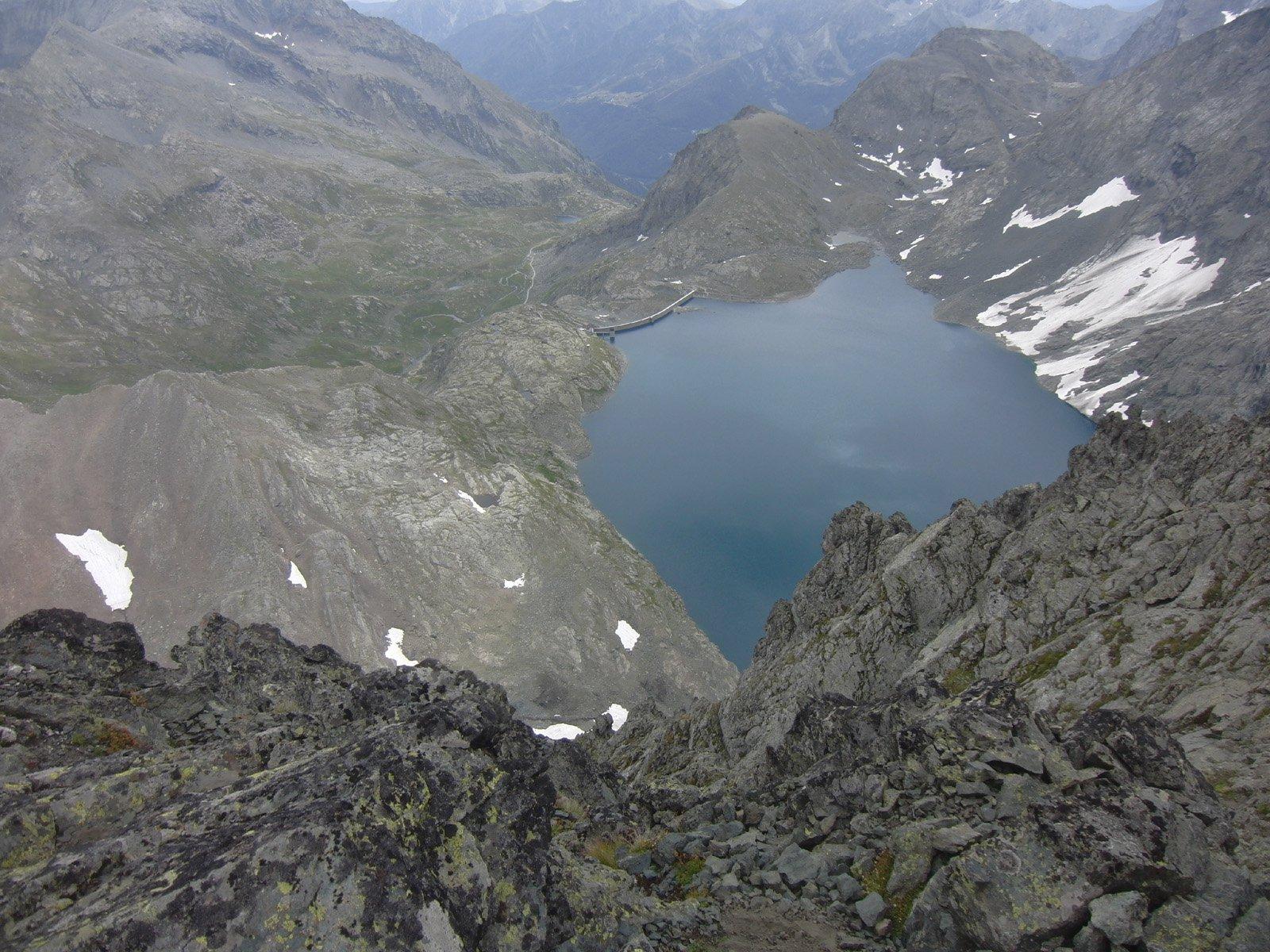 Il Lago della Rossa dalla vetta