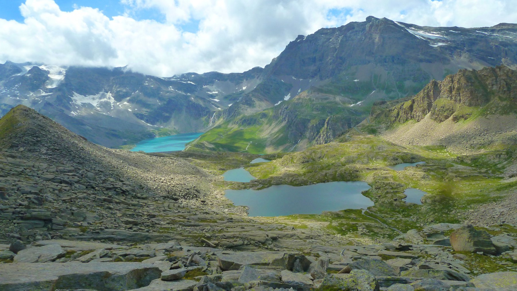 alcuni dei numerosi laghi del ritorno