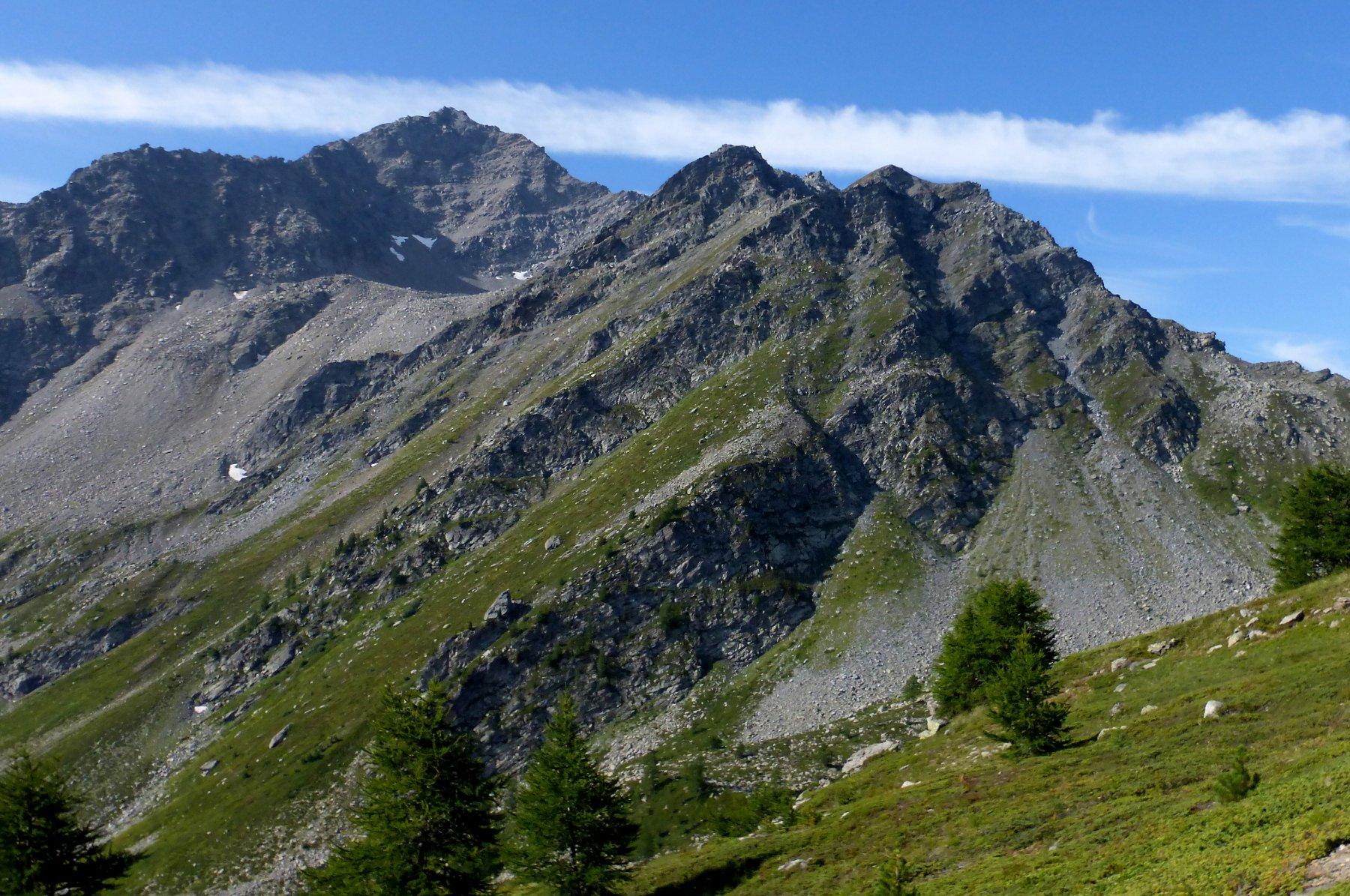le cresta dal sentiero iniziale
