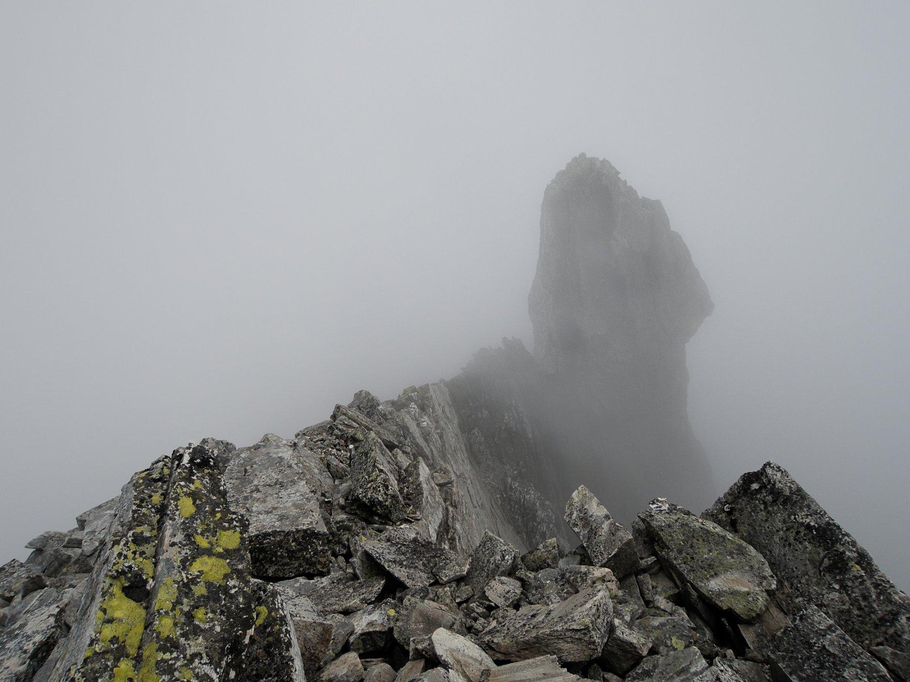 Vetta della Punta Gerla nella nebbia