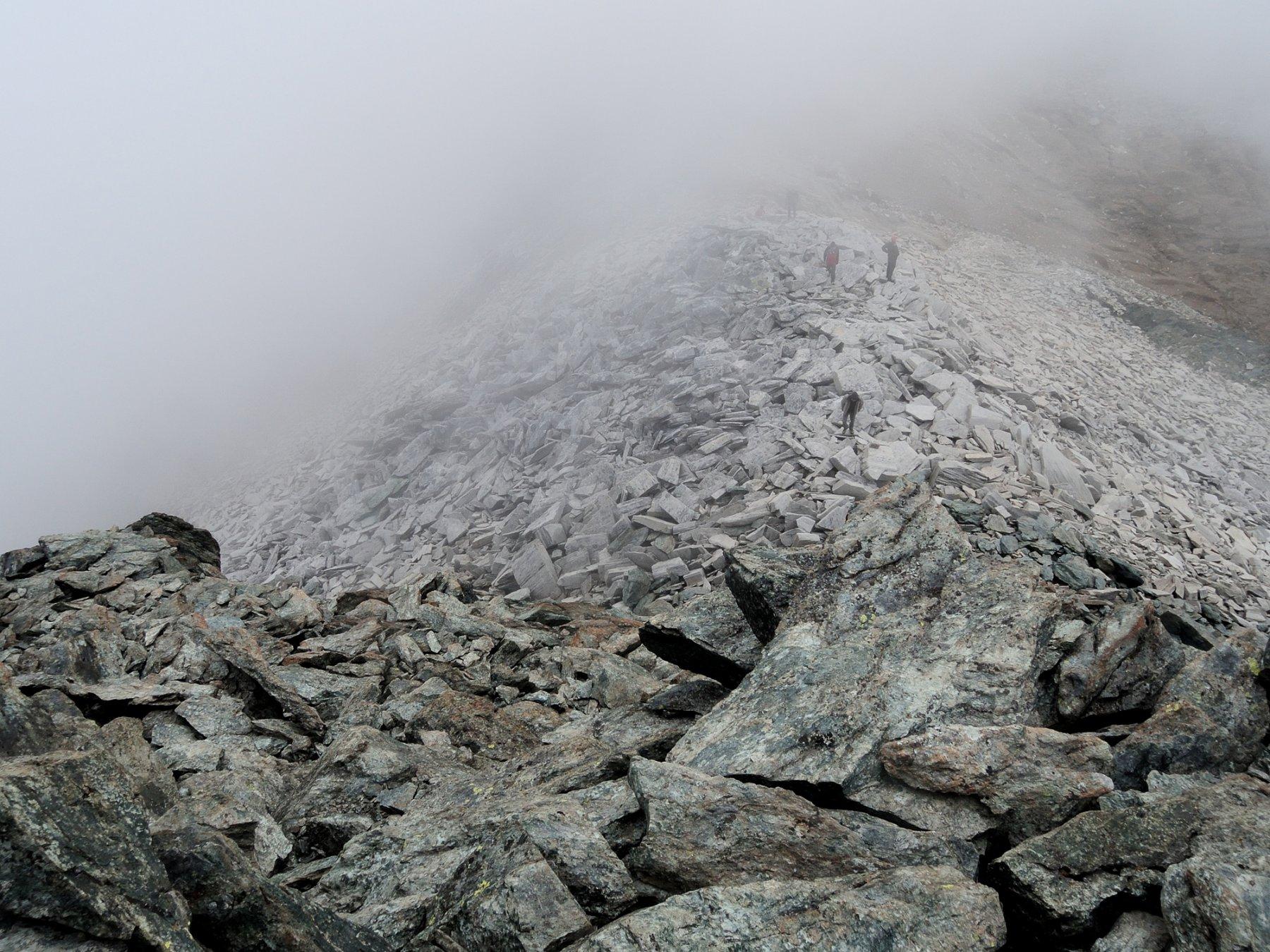 Passo Marani visto dalla cresta Sud della Punta omonima
