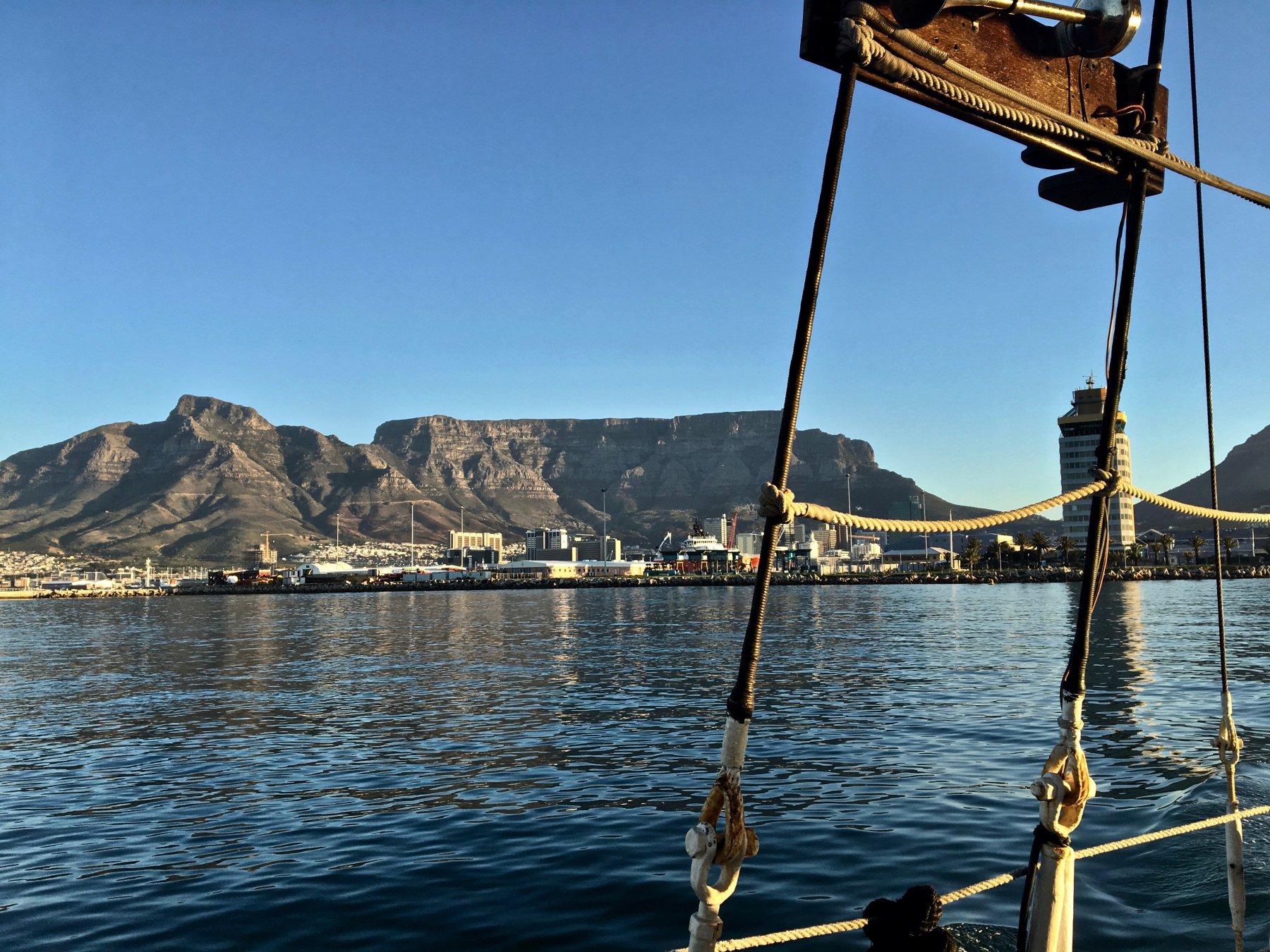 La Table Mountain dal mare
