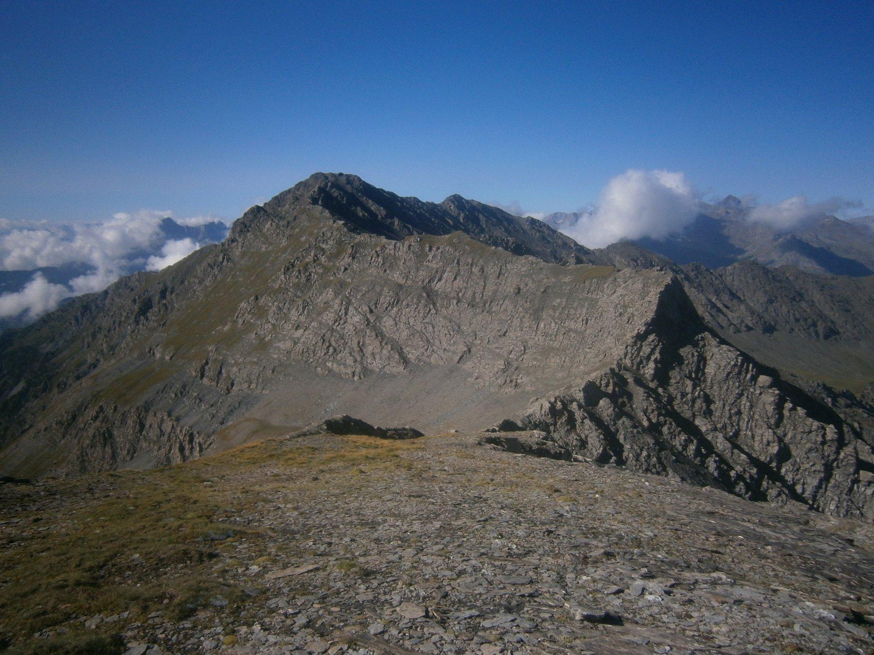 la cresta verso punta Tre Chiosis