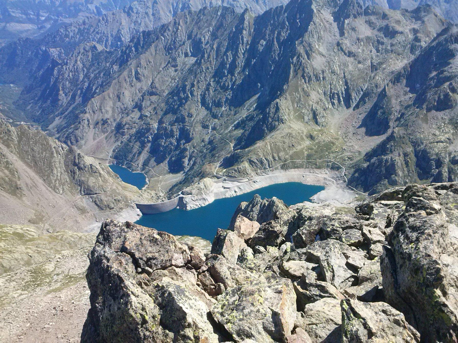 Laghi Rovina e Brocan dalla cresta
