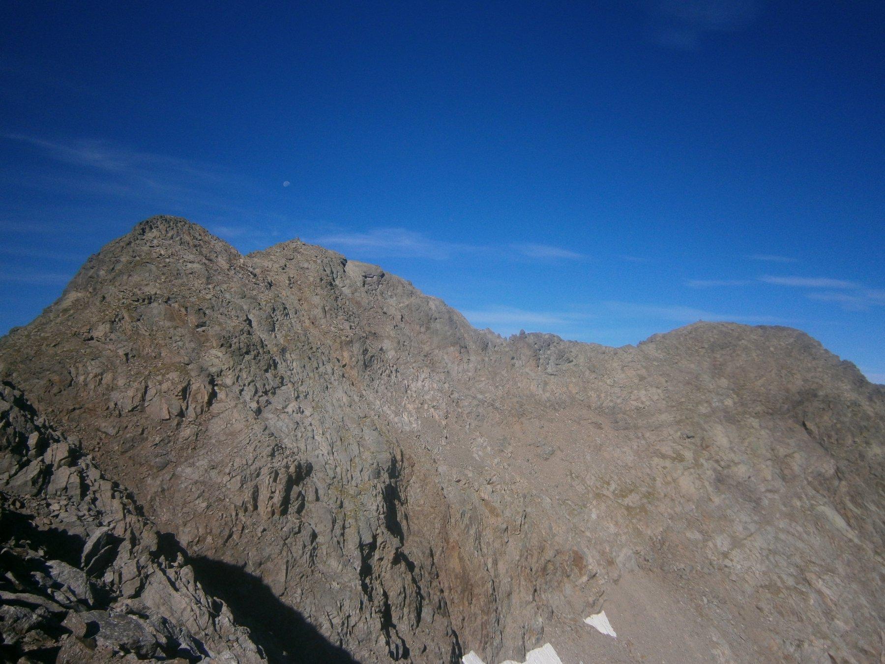 Le tre cime dal passo Corborant