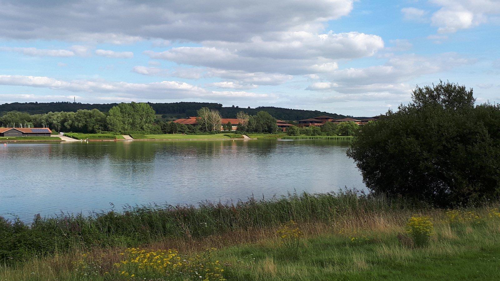 Caldecotte (Lake) da Eaglestone per Walton Lake, anello 2017-08-13