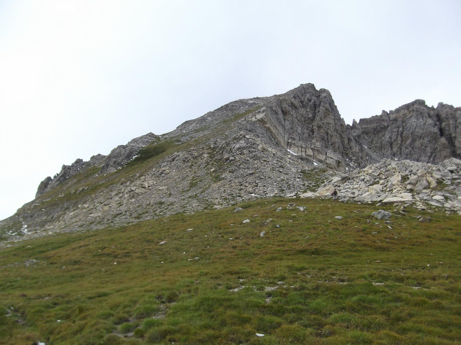 La cima dal Bocchino del Bianco con la salita finale.