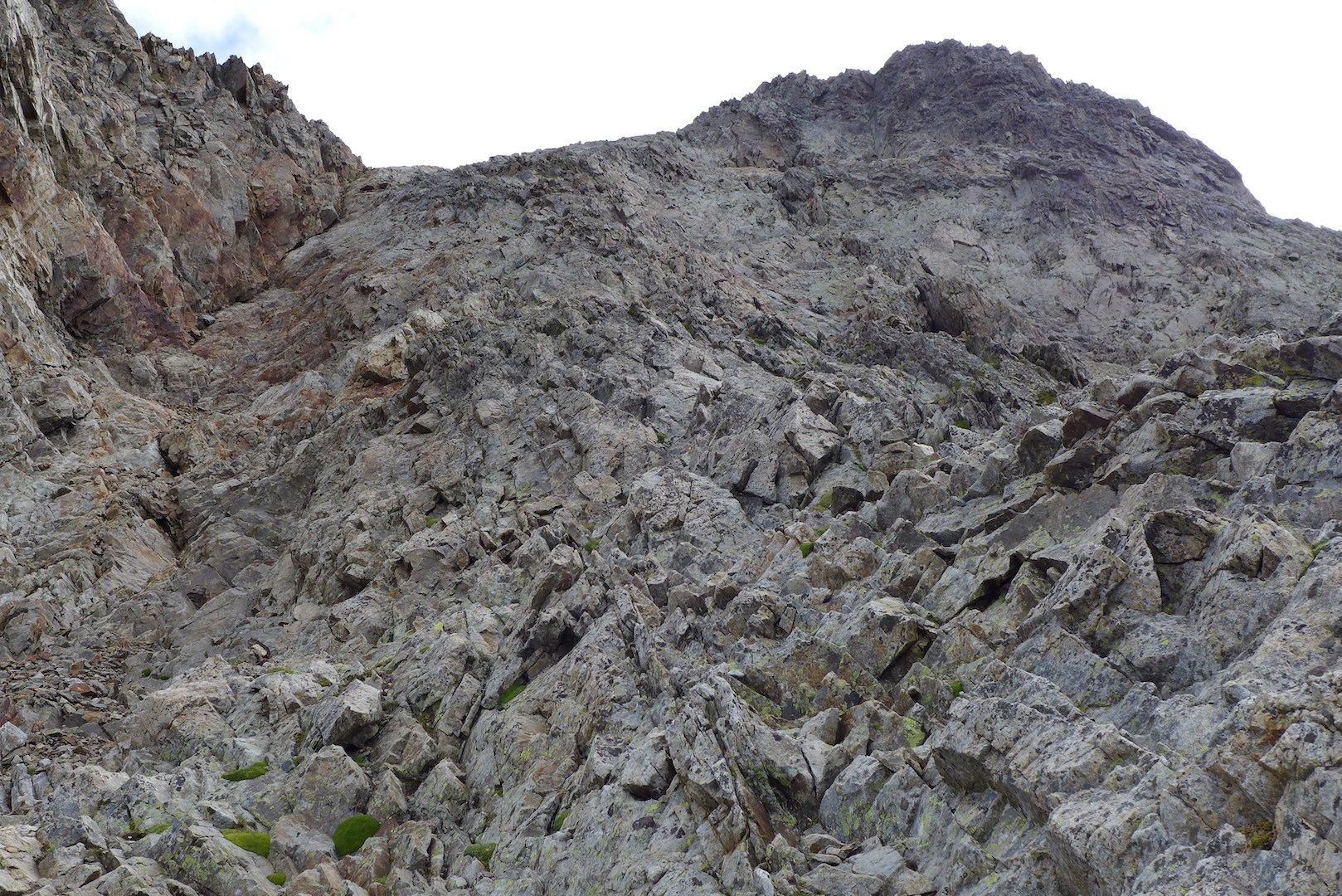 Inizia il tratto alpinistico