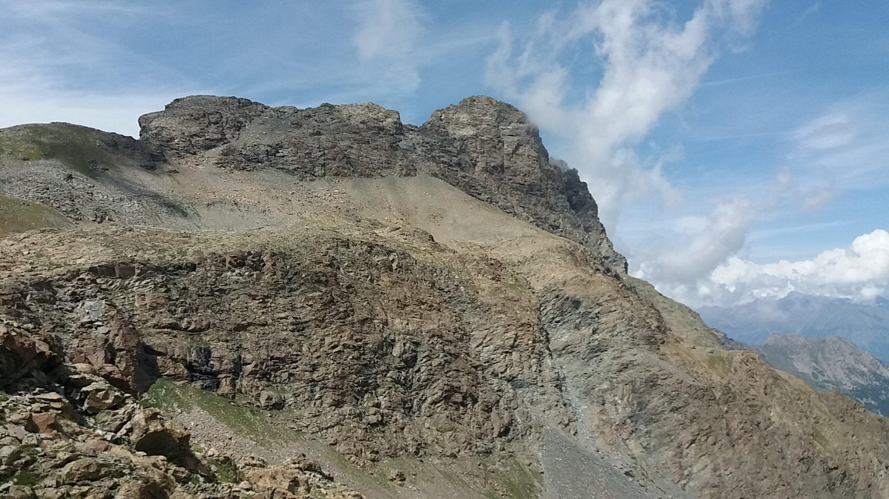 Il monte Avic visto dall'itinerario di salita