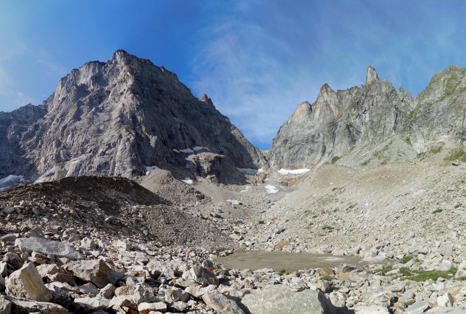 Il vallone di Giove, con la parete del Clogstafel in fondo sulla destra