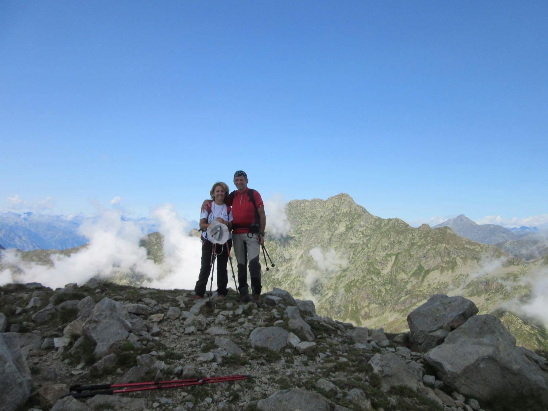 Sul Mucrone con mia moglie
