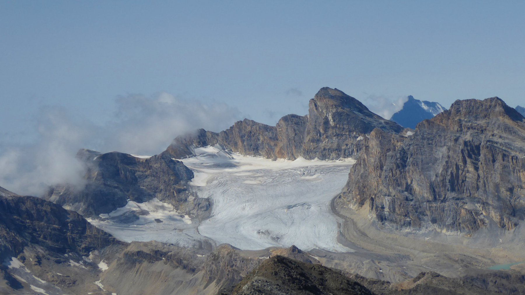 il ghiacciaio di sort con la tsanteleina