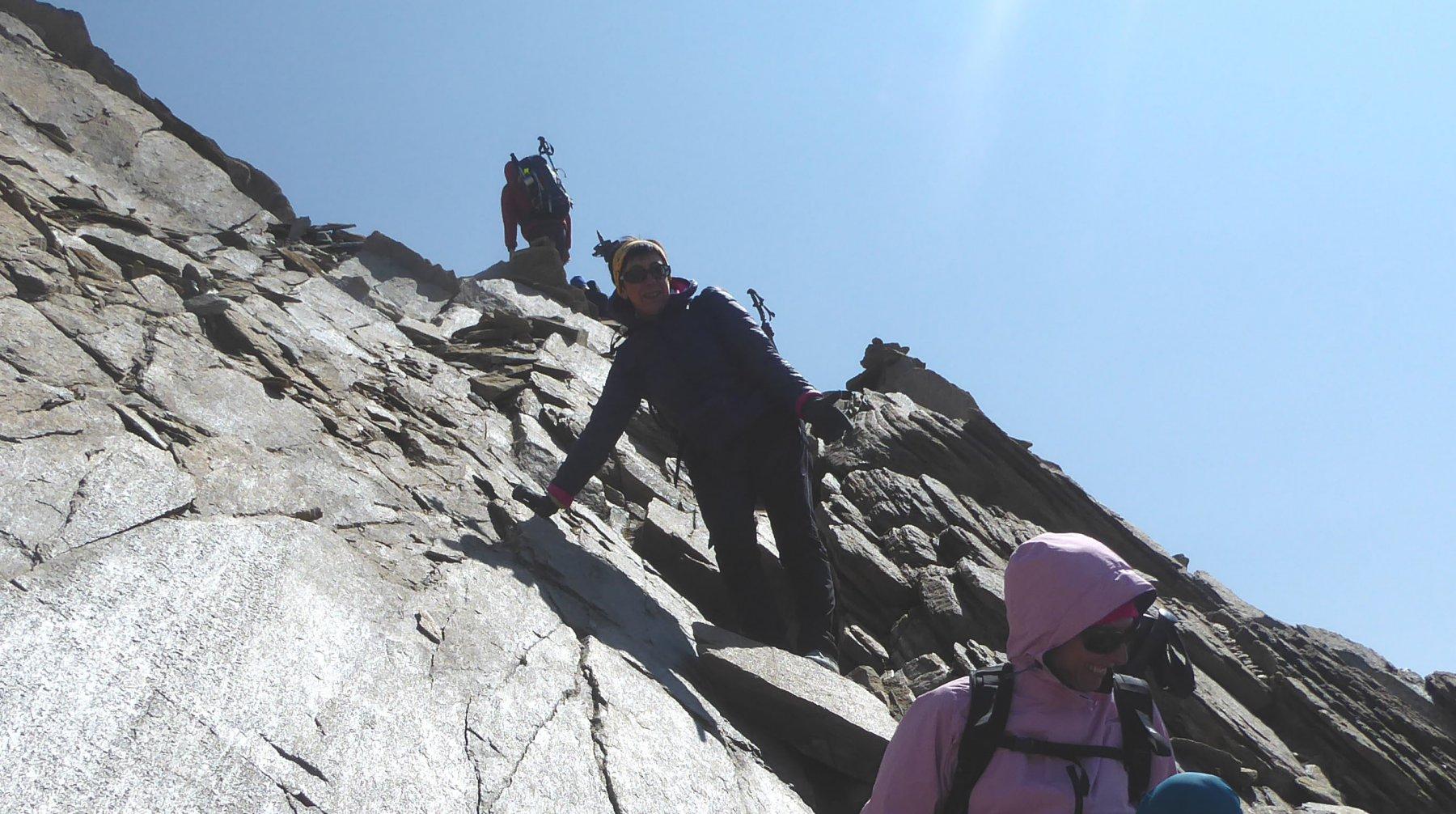 il passaggio chiave sulle roccette