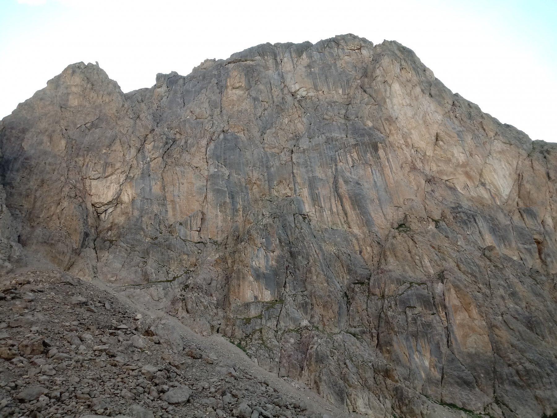 La parete Est della Cime du Raisin al pomeriggio