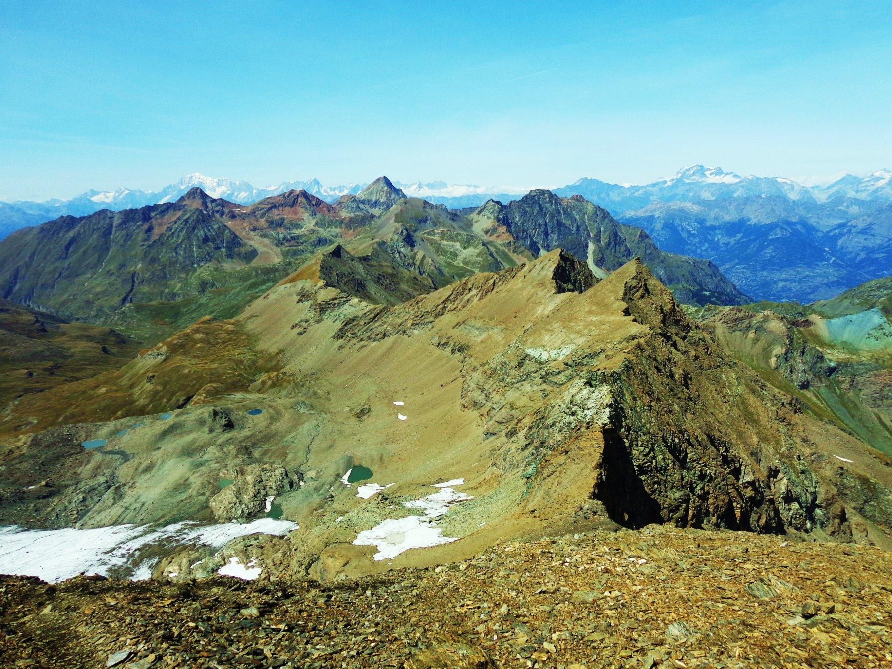 La cresta dalla Tersiva fino alla Punta di Leppe