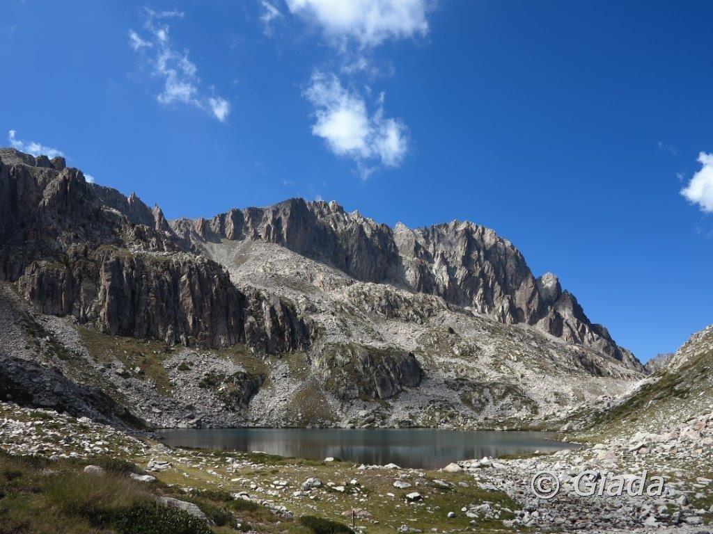 Il Lago Soprano di Fremamorta e la Testa Sud di Bresses