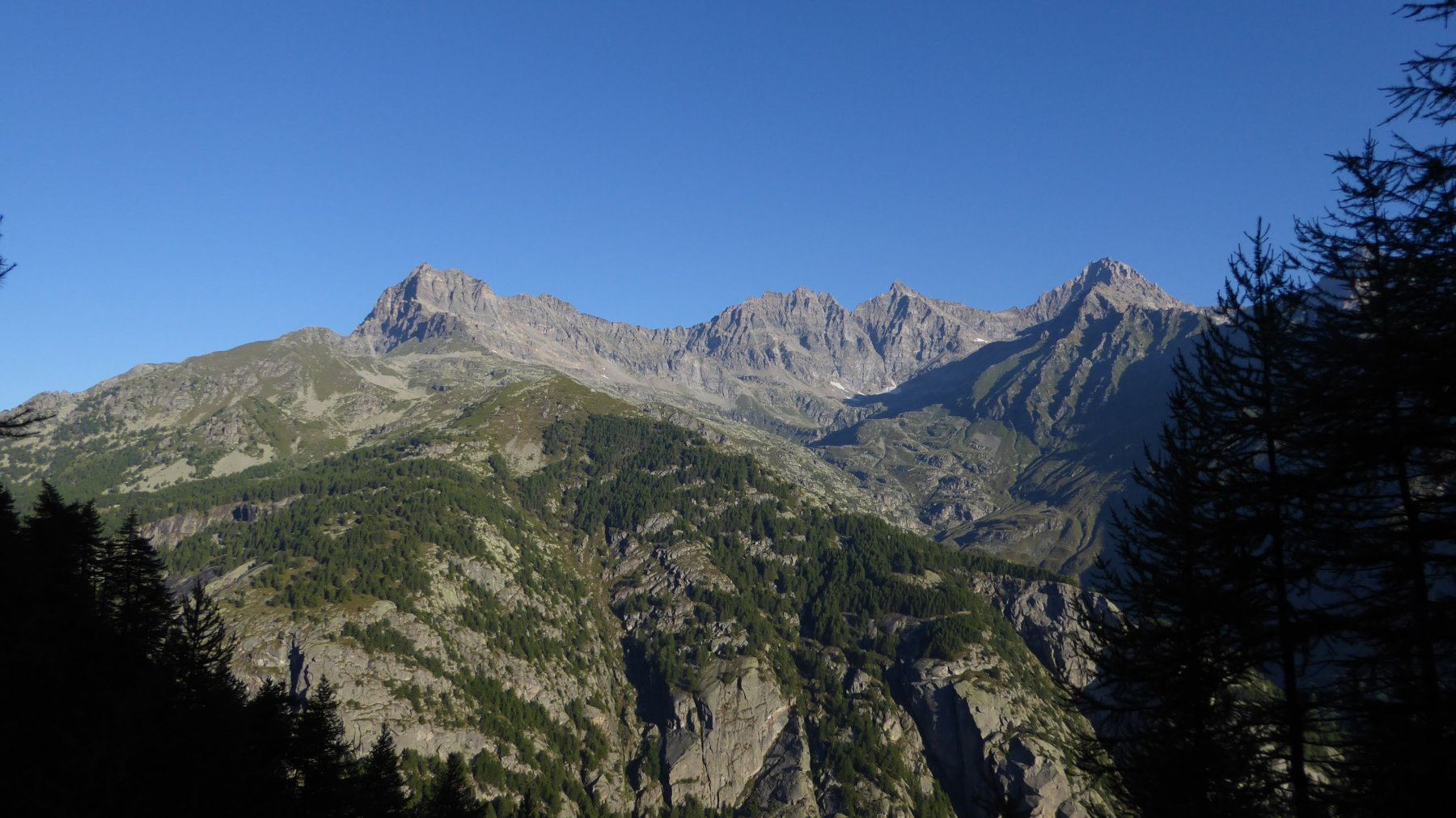Panorama dall'Alpe Vallone inferiore