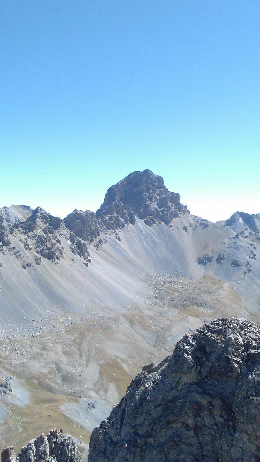 Vista sul Monte Oronaye dalla punta