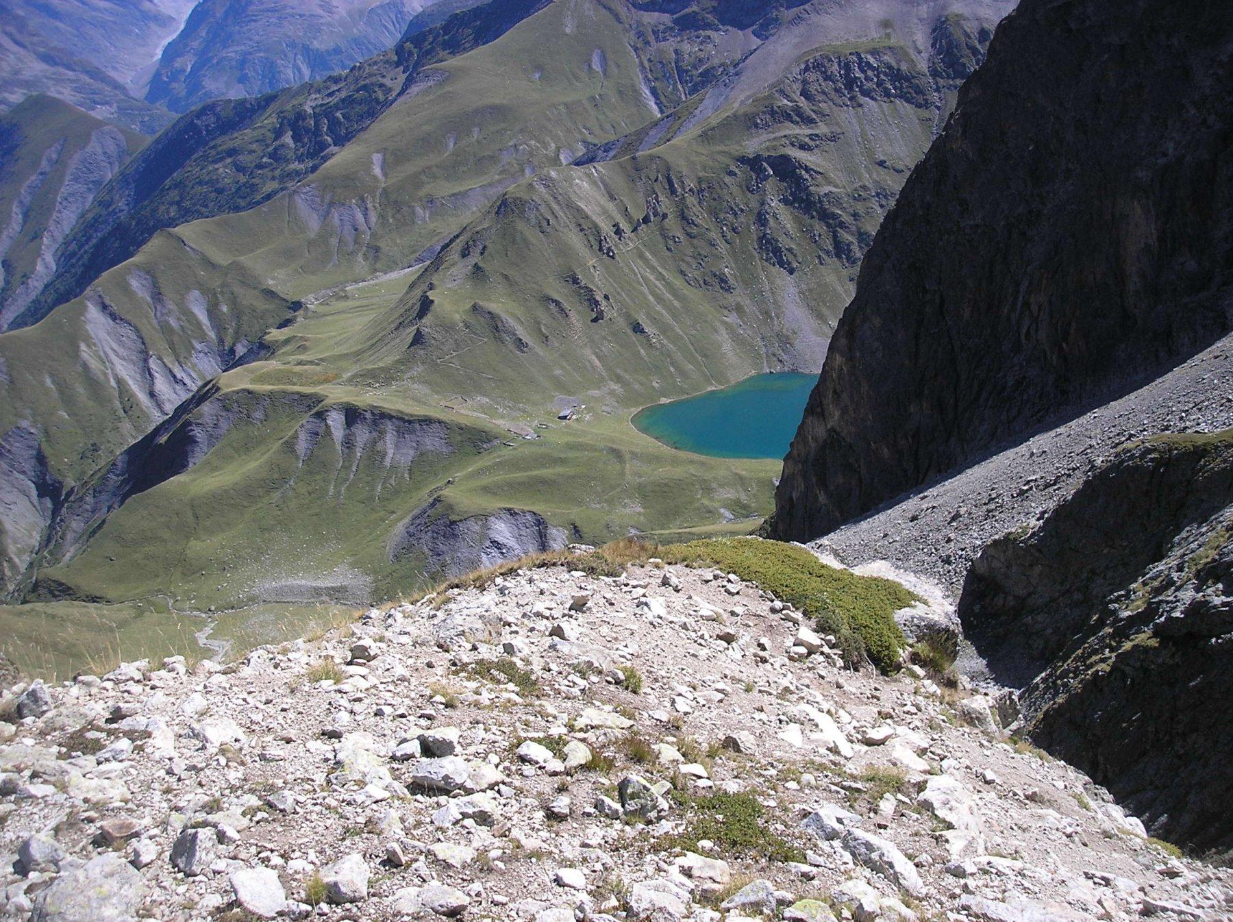 Rifugio e lago dal col du vallon