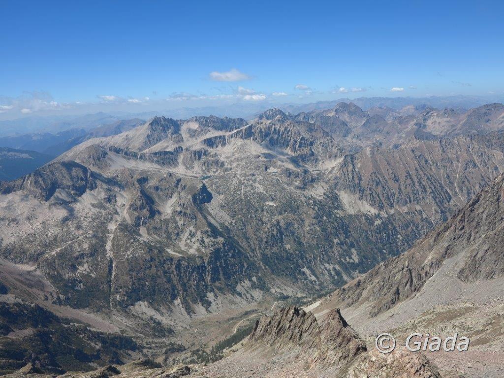 Panorama dalla vetta del Bastione verso ovest