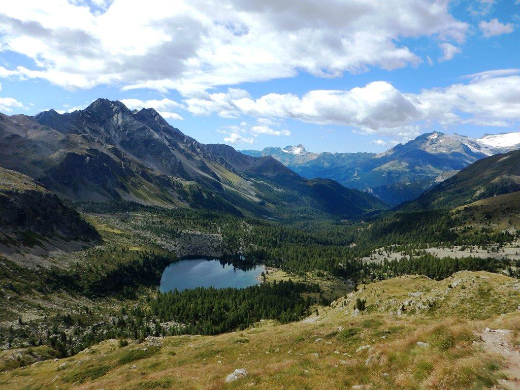 Il Lago da Val Viola dal passo di confine