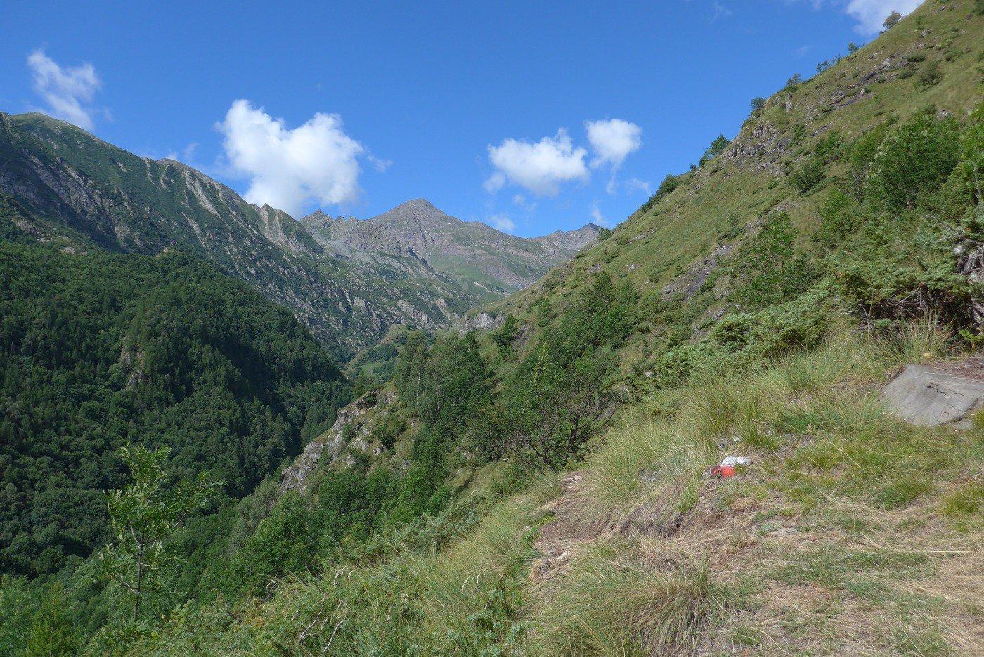 L'alta valle con il Palon