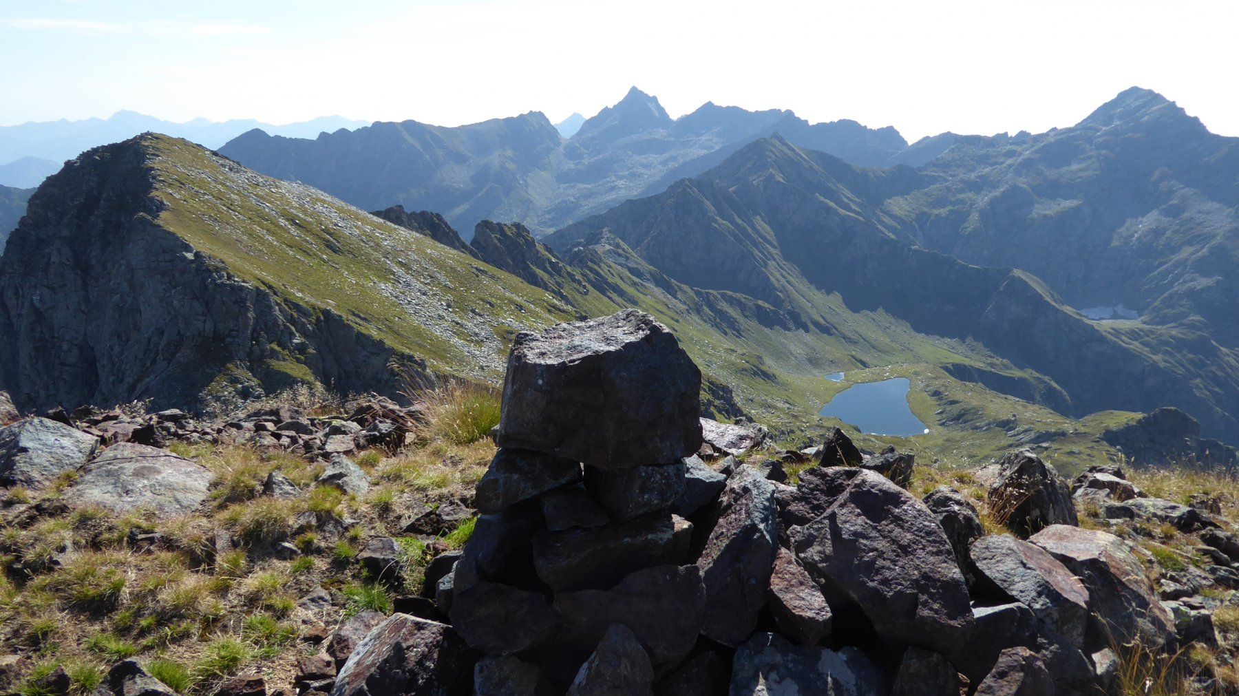 Dal Monte Nero, Lago a Monte Santanel