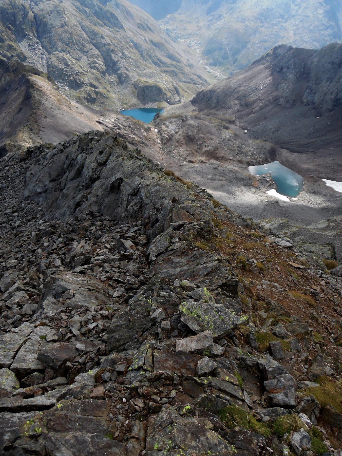 Quasi in vetta. Cresta Diavolo, Lago di Malgina e Lago alto di Malgina