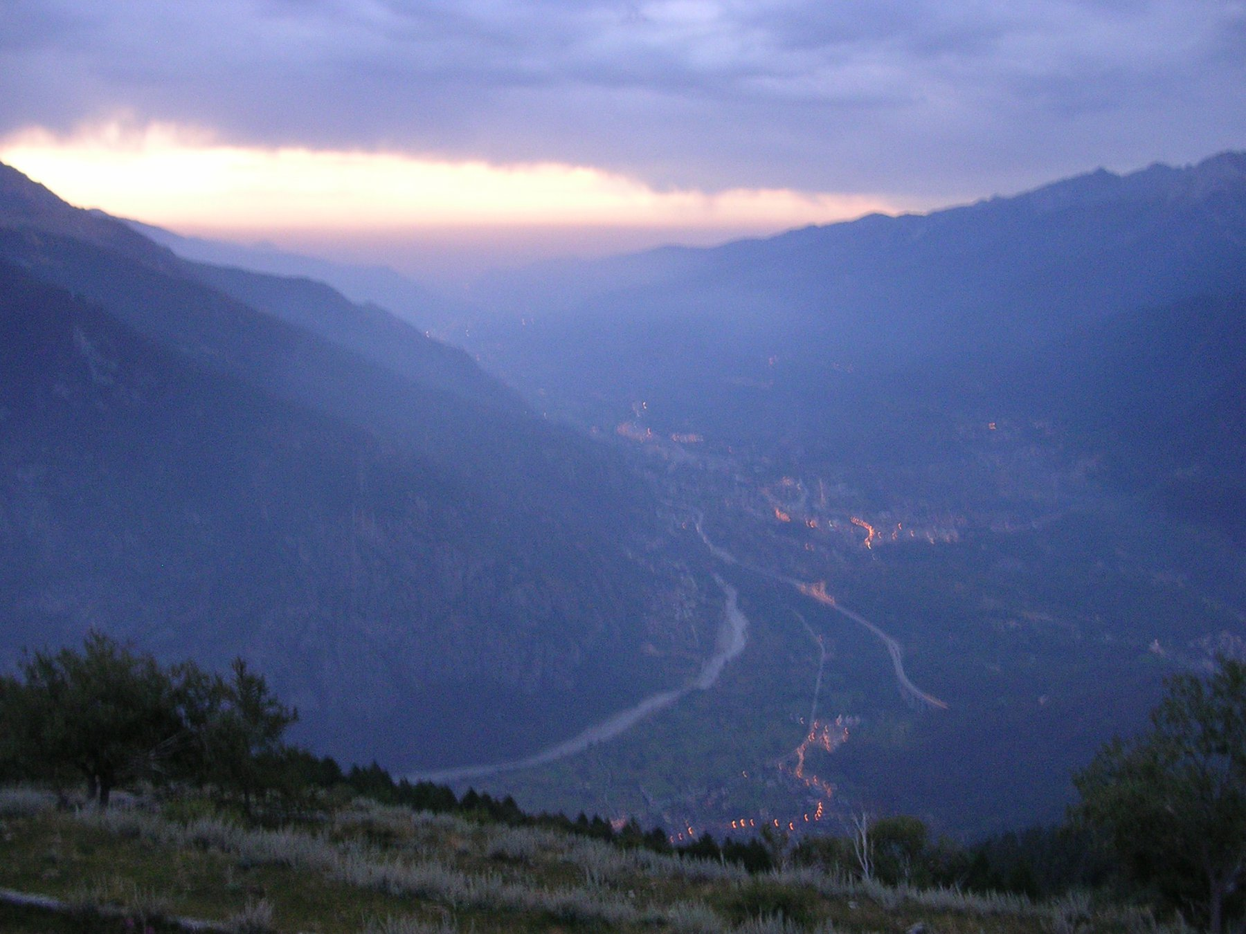 Panorama su tutta la bassa valle di Susa