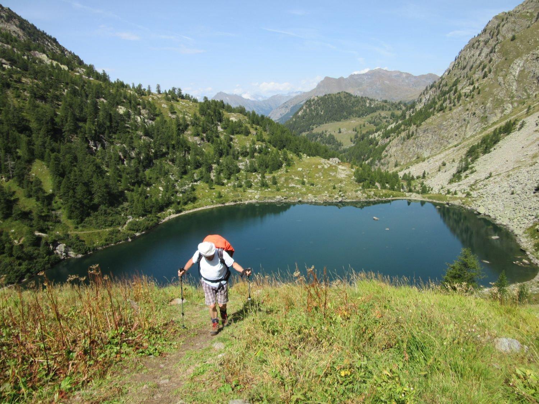 Salendo verso il lago superiore
