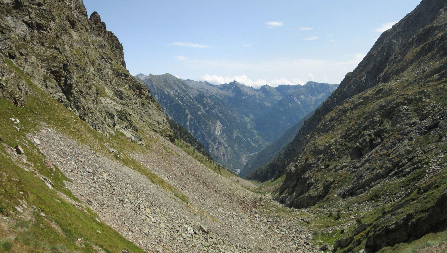 Versante verso la valle di Gressoney