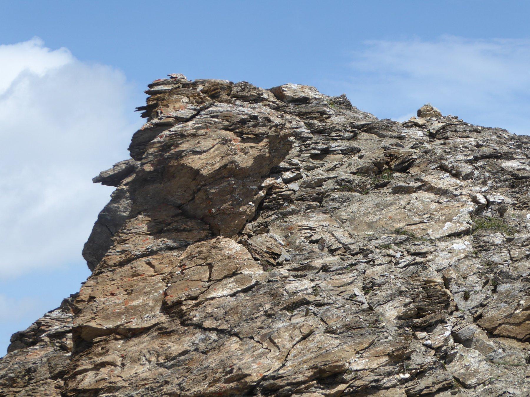 la parete di circa 5 metri che precede la cima della Nivolettaz Nord